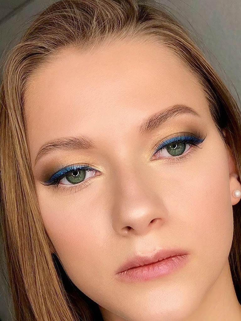 макияж голубой